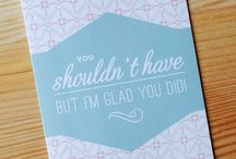 Snarky and Stylish Thank Yous / Not all thank you cards need to be sappy.