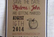 Apple wedding theme / jablíčková svatba