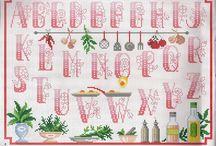 Grilles point de croix alphabet / Grilles point de croix gratuites alphabet