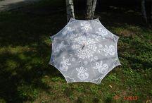 Umbrelas em crochê