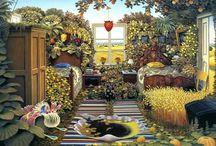 Jacek Yerka / (born. Jacek Kowalski in 1952) is a Polish surrealist painter