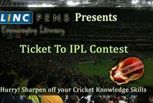 Ticket To IPL Contest / #LincPens brings to you 'Ticket to IPL Contest', an amazing opportunity to watch the next match at the stadium in India.