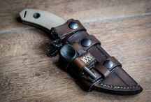 My Leatherwork / Here you can find some of my self made leather items, sheaths made out of leather for knives, phones, etc.