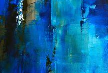 Peintures acryliques abstraites