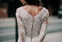Wedding // Lace Dresses / Just like tulle, lace is another very wedding specific fabric. A lot of women go for dresses that are either full on lace or have some sort of lace detail. So this is what inspired this board, a fabric, a feeling a certain kind of dress...