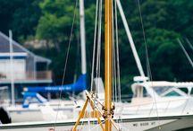 wooden sail boats