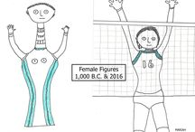 Female Figures: Art by Mariah Burton Nelson / Images of female athletes, women in sports, female leaders, ancient female fertility goddesses and other female figures. Art copyrighted by Mariah Burton Nelson