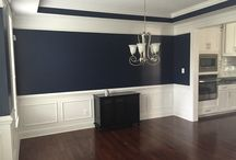 Beautiful & Bold Navy Dining Rooms / by Monica Benavidez