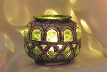 Color Candle Votive With Metal Fitting