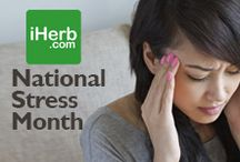 National Stress Month / April is National Stress Month, so check out some of our top selling products (http://www.iherb.com/stress) ~ New Customers can use Rewards Code PNT999 to get $10 off of a $40 minimum purchase or $5 off first time orders of less than $40. / by iHerb Inc