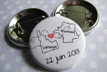Wedding Buttons Pins / Wedding buttons pins personalized, customized, and thoroughly fantastic!