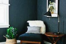 small spaces, dark colours