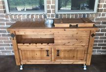 Rustic Outdoor Patio Furniture / Rustic & reclaimed barn wood patio & deck furniture, grilling stations, bars & bar carts, outdoor cabinets, serving tables and more