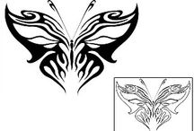 Tribal Butterfly Tattoos / Tribal Butterfly Tattoo designs created by Tattoo Johnny Artists