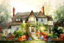 Art - Buildings, houses.