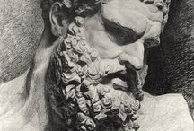 Marble and Terracotta Busts.