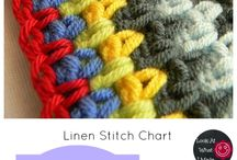 crochet stitches, blankets and scarves