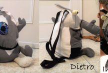 Borse e zaini / Le borse e gli zaini riciclosi creati con scarti di tessuti
