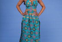 African Maxi Dresses | Grass-fields