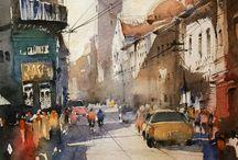Nitin Singh watercolours