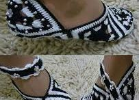 sandálias croche