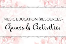 Games & Activities - Music Education {Resources} / Games and activities for the music classroom