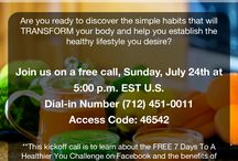 Living Well With Gratitude's 7 Days To A Healthier You Challenge / Are you Ready to discover the simple habits that will TRANSFORM your body and help you establish the healthy lifestyle you desire?