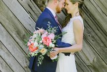 Emily + Jason, PRIVATE HOME WEDDING, NEW ENGLAND / Private back yard wedding, coral peonies, laid back relaxed garden wedding, sperry tent