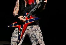 Dimebag Darrell / RIP to one of the Greatest  guitarists of all time.