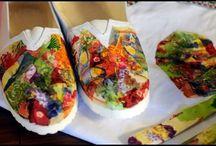 video de zapatos pintados