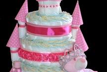 Princess Tower Diaper Cake