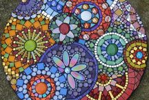 mesa redonda mosaico
