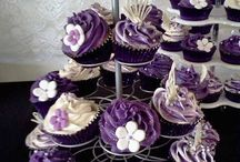 cupcakes wedding purple