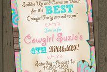 Cowgirl invites