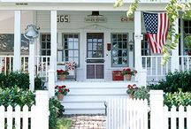 Patriotic Home & Garden Ideas / Add a bit of patriotism to your home and garden this summer - it's timeless, classic, and fits the summer holidays from Memorial  Day, July 4th all the way thru Labor Day.