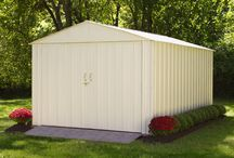 Arrow Commander Series Storage Shed / The Commander Steel Storage Shed is made from Hot Dipped Galvanized Steel.  Sizes range from 10' x 10' to 10' x 30' . Strong, large and DIY installation makes this storage shed perfect for any need.