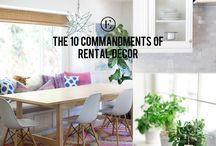 Rental life & Decor inspo