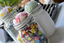 Organize sewing supplies