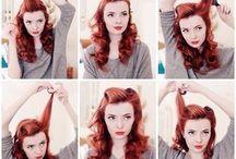 50s style hair