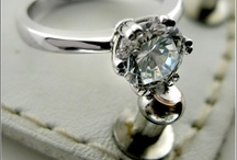 Platinum & Gold High Quality CZ Solitaire Rings / Cubic Zirconia Solitaire Rings