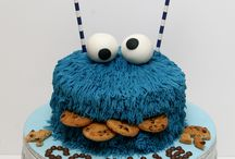 Cookie monster Cake/Cupcake