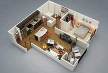 house: 3D plans