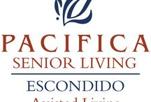 Pacifica Senior Living Escondido / Pacifica Senior Living Escondido is nestled at the base of the mountain range that is home to Palomar Mountain and the famous Palomar Observatory. Our senior living community is located in a quiet residential area, with shopping conveniences just a short block away. The climate in Escondido is ideal; temperate with warm summers, but close enough to the coast to enjoy those cooling sea breezes