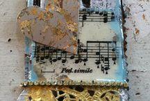 Jen Cushman / Jewelry, Ice Resin, wire works.