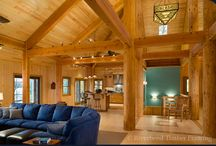 Log House / Exterior and interior of beautiful log houses
