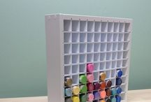 Paint Organizers / A variety of organizers to hold all of those Acrylic Paint bottles