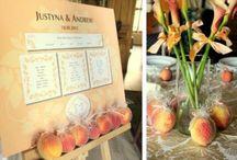 Brzoskwinia, jako kolor przewodni wesela