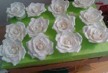 Handgemachte Zucker-Rose