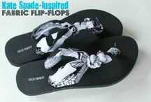 Cover your flip flops straps in fabric.