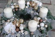Vánoční adventní věnce